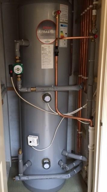 Recent work update- New unvented hot water cylinder - A. Stewart